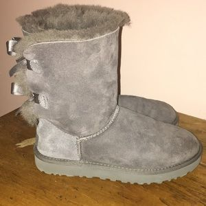 Grey Bailey Bow UGG boots Size 6